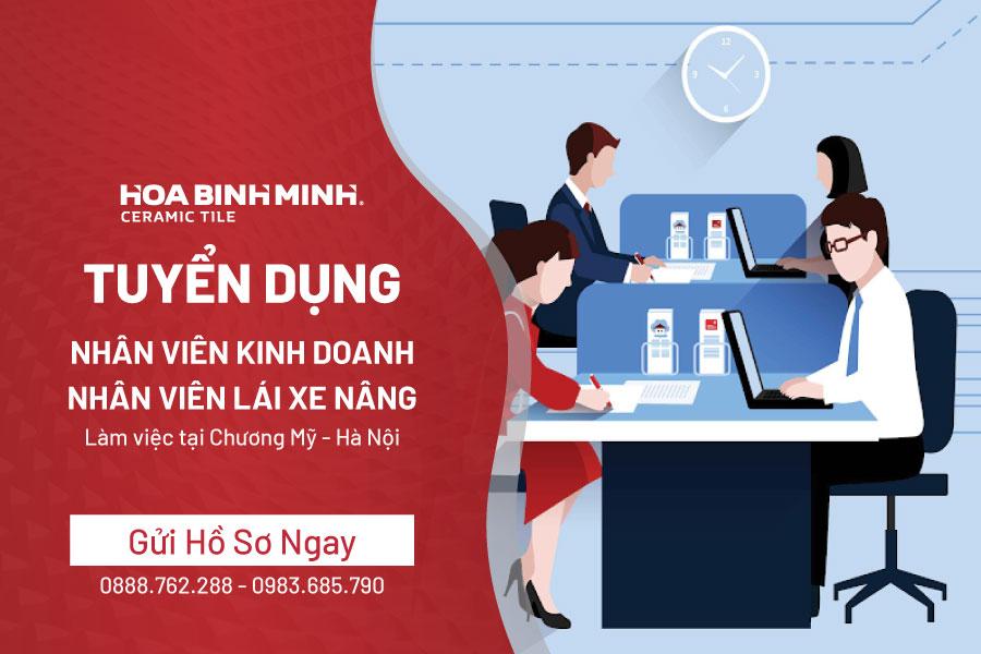 [Chi nhánh Hà Nội] Tuyển dụng 02 nhân viên Kinh doanh, 01 nhân viên Lái xe nâng