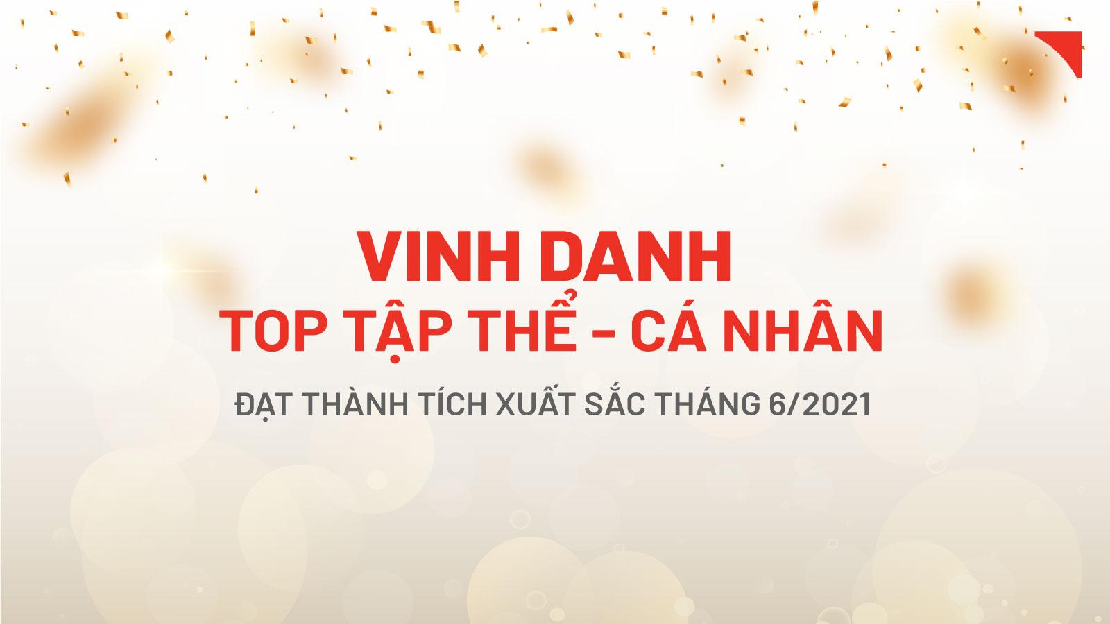 Gạch ốp lát Hòa Bình Minh: Vinh danh cán bộ nhân viên xuất sắc tháng 6/2021