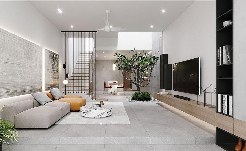 5 Cách phối cảnh phòng khách hiện đại năm 2021